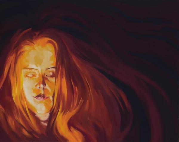 "Marie Hines Cowan figurative oil-on-canvas painting ""The Nereid"""