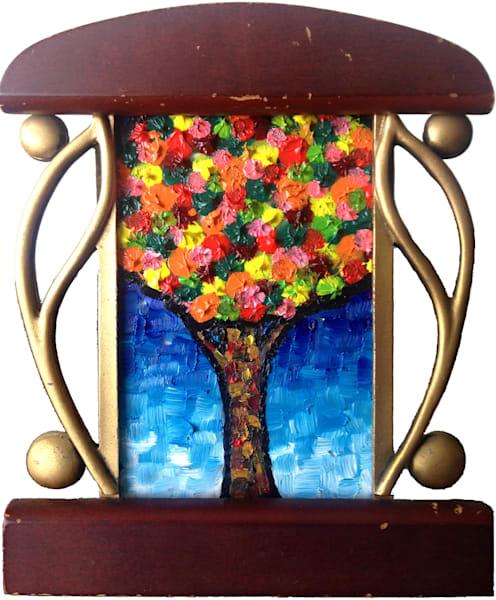 Bloom miniature original oil painting