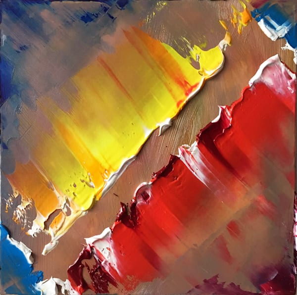 Color Gash abstract tile painting