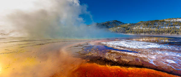 Grand Prismatic Hot Spring: Panoramic View - by Curt Peters