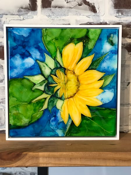 Alcohol Ink Sunflower Heidi Stavinga Studio