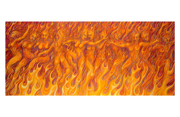 Flames of Passion 11x17 inch ecoprint