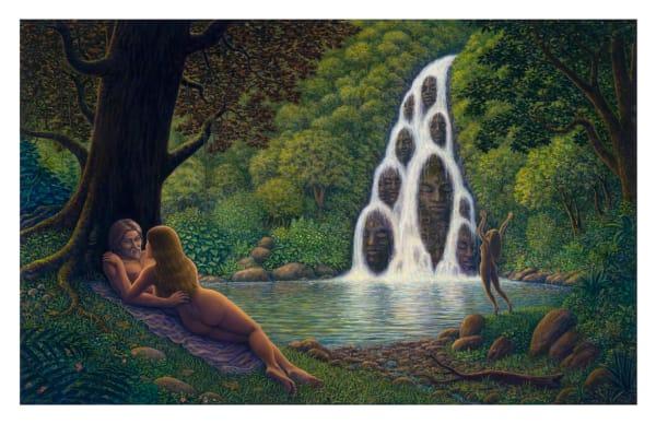 Fountain Of Youth 11 X 17 Inch Ecoprint | markhensonart