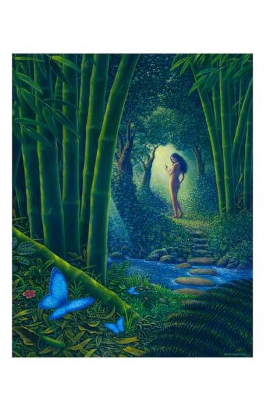 Bamboo Forest 11x17 Inch Ecoprint | markhensonart