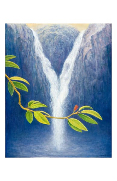 Waterfall 11x17 inch ecoprint