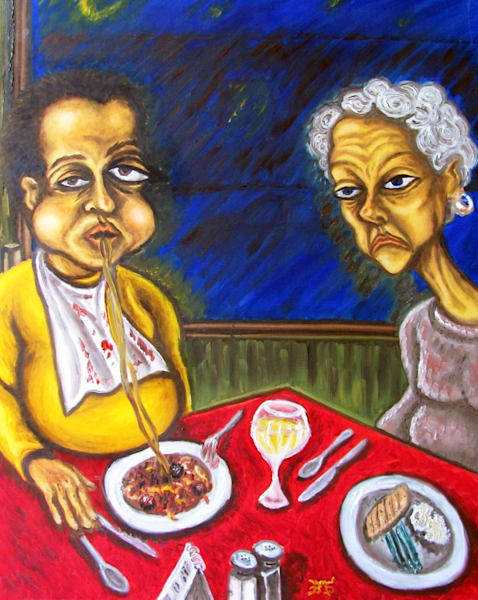 The Dining Dead pms painting