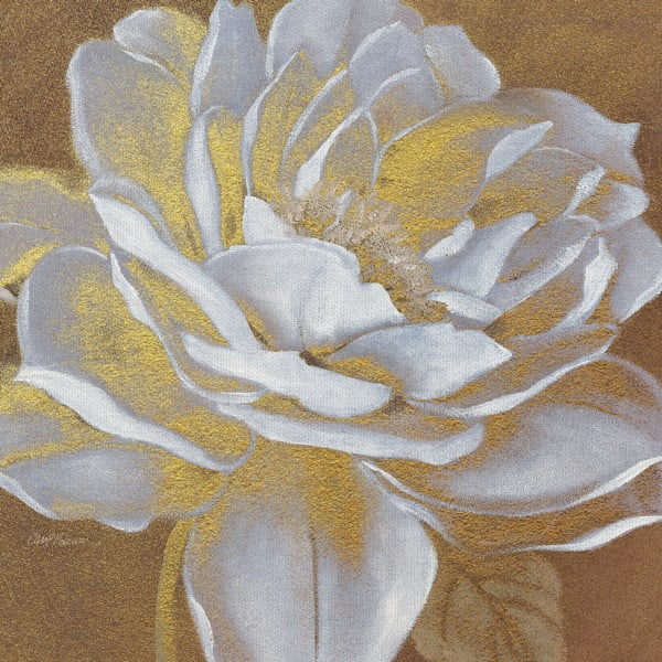 Golden Bloom I by Artist Carol Robinson Wrapped Canvas Painting Art Print