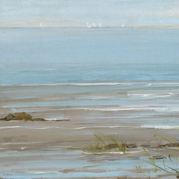 Afternoon on the Shore I by Artist Sally Swatland Wrapped Canvas Art Painting Print
