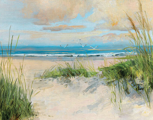Catching the Wind by Artist Sally Swatland Wrapped Canvas Art Painting Print