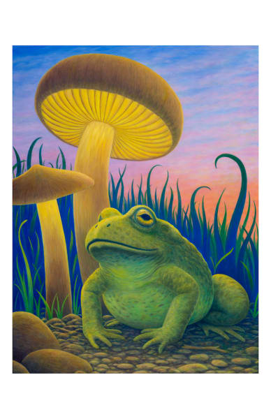 Magic Toad 11x17 inch ecoprint