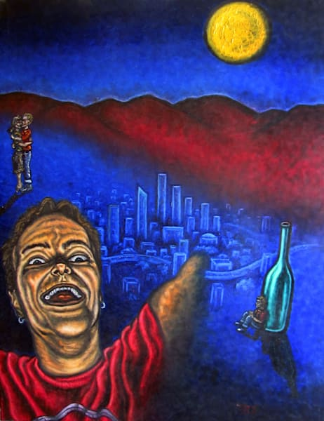 Los Angeles Nostalgia surrealist painting