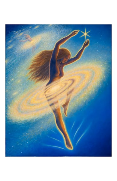 Dancing Across the Universe 11x17 inch ecoprint