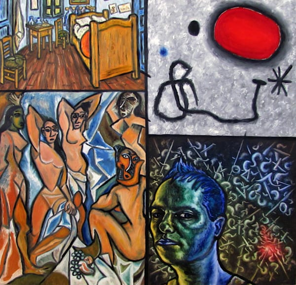 Van Gogh, Miro, Picasso And Presto  Art   PMS Artwork