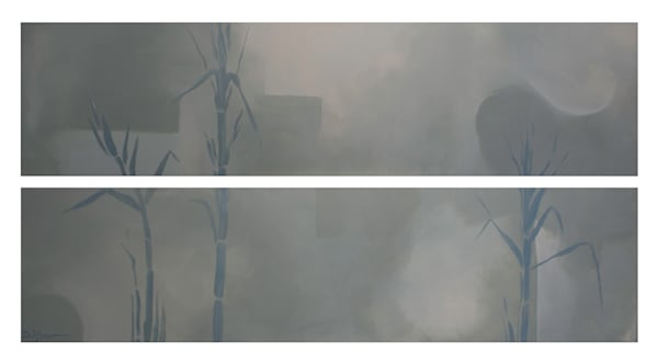 Bamboo (diptych print)