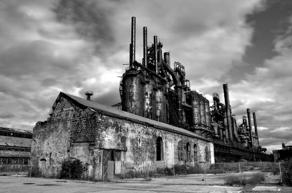 Steel Stacks (black and white)
