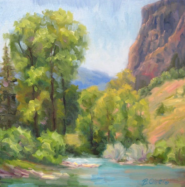 rio grande, river painting, mountain painting, river, mountain, colorado, colorado paintings