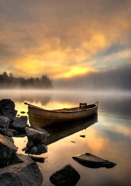 Adirondack Carry Canoe Photography Art | Michael Sandy Photography