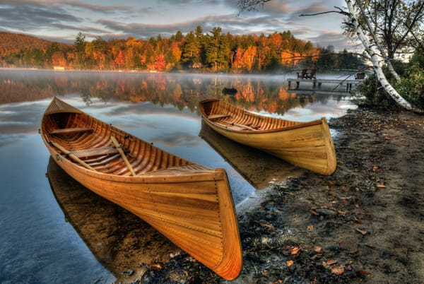Autumn Guideboats on Lake Flower