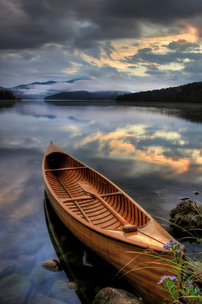 Adirondack Carry Canoe Ii Art | Michael Sandy Photography