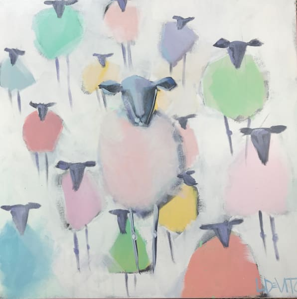 OUT STANDING IN HER FLOCK - 20 X 20