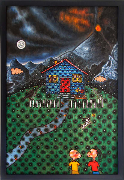 Dream Home original surrealistic painting