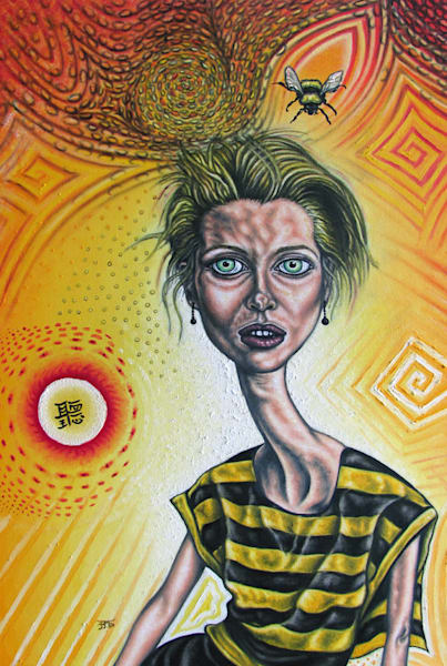 Just Bee pop surrealism painting