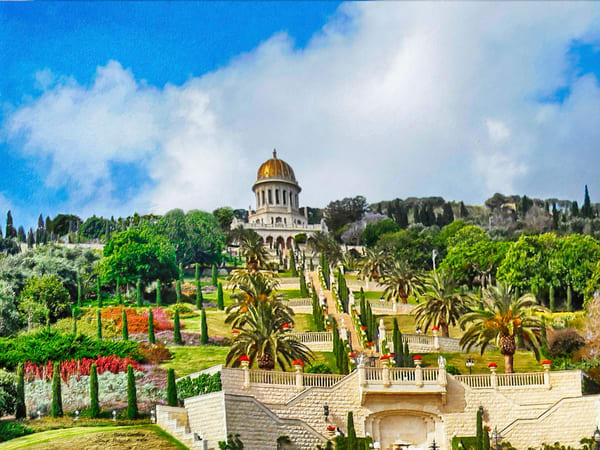 Bahai Gardens - The Gallery Wrap Store