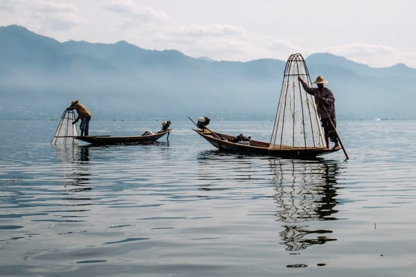 Fine Art Prints, Fisherman on Inle Lake, Burma