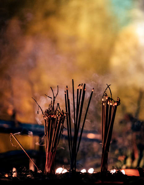 Fine Art Prints, Incense Burning at Kyaiktiyo Pagoda, Burma