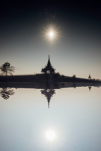Fine Art Prints, Dark Palace, Mandalay, Burma