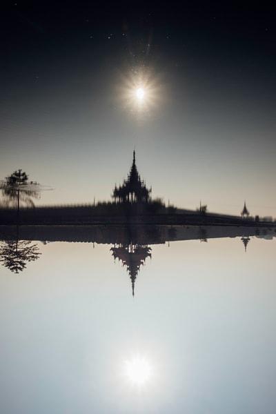 Fine Art Prints, Dark Palace, Mandalay, Burma
