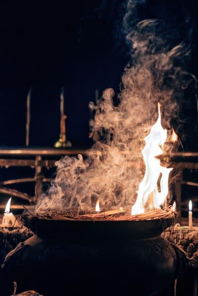 Fine Art Prints, Incense Burning at Kyaiktiyo Pagoda, Burma