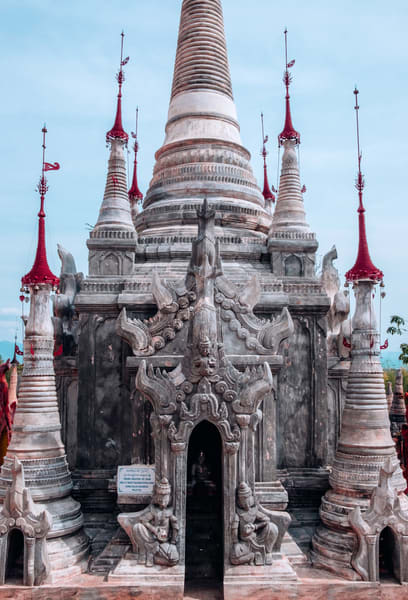 Fine Art Prints, Ancient Shrine of Indein Pagoda, Inlay Lake, Burma