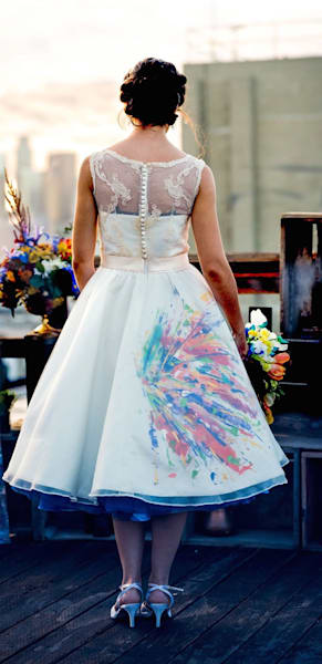 Splatter Design Wedding Gown Design
