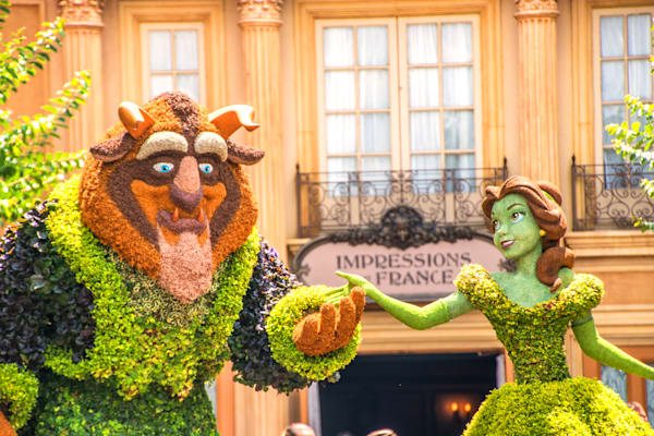 Topiary Beauty and the Beast 2 - Epcot F&G Gallery | William Drew