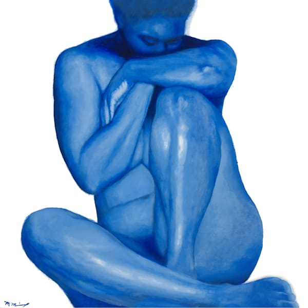 Blue Nude One Fine Art Prints for Sale | Marcus McKinley Fine Arts