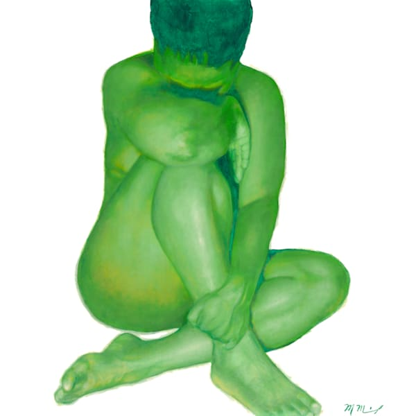 Green Nude One Fine Art Prints for Sale | Marcus McKinley Fine Arts