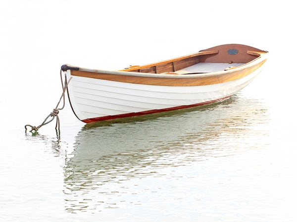 """Vineyard Haven Skiff"" Large Format Martha's Vineyard Nautical Fine Art Photograph"