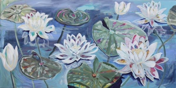 Lillies Of The Lake Art | Kristin Webster Art Studio