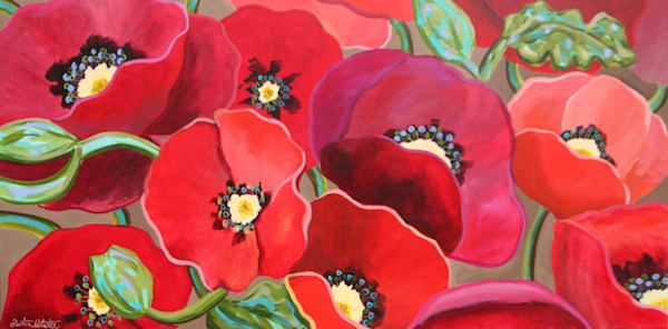 Poppy Love Art | Kristin Webster Art Studio
