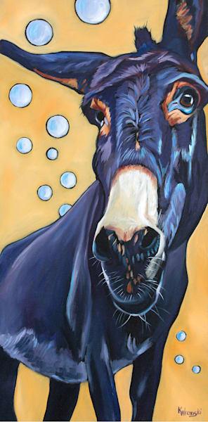 Donkey Bubbles 11x14 Canvas Art | HFA print gallery