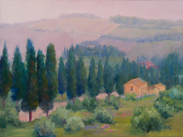 Misty Morning Tuscany Art | B. Oliver, Art