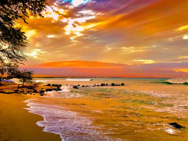 Maui Sunset 003 Art | Highvibrationphotography