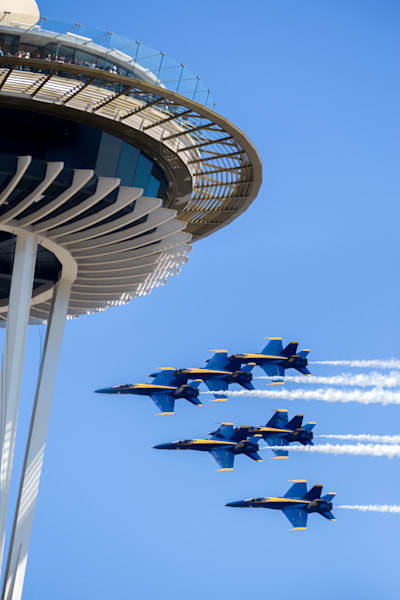 Blue Angels,  SeaFair, Seattle, space needle, pnw, local artist, local art