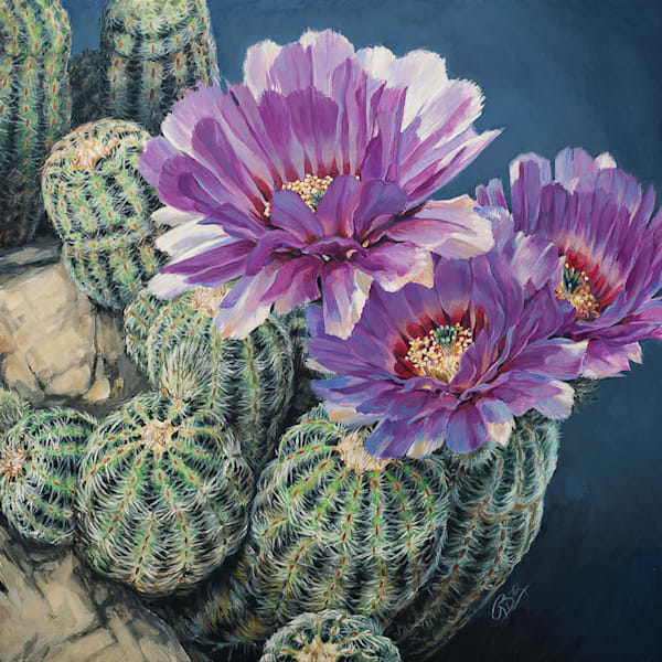 Lace Cactus Painting Dichotomy by Rebecca Zook