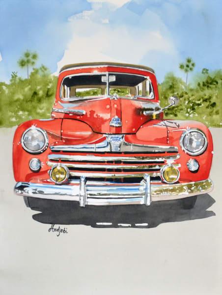 1946 Ford Super Deluxe - Original Watercolor by Shah Hadjebi