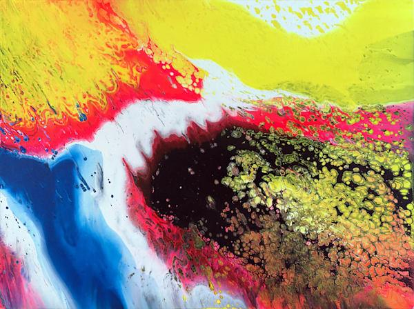 Beautiful Virus fluid acrylic painting