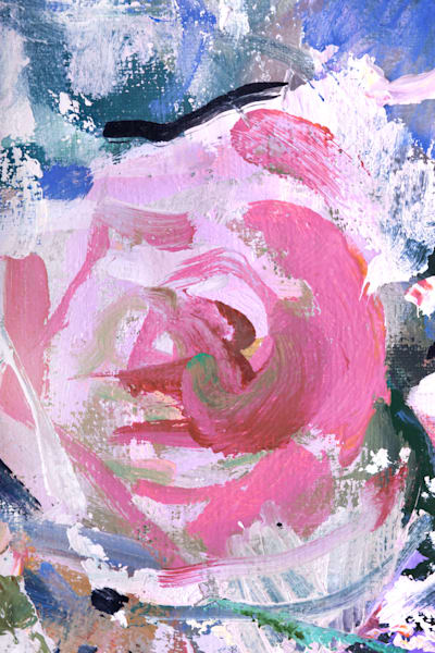 Rose, Fragment Of Painting