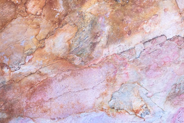 Marble background, light pink and orange colors pattern, textured wallpaper, expensive material for
