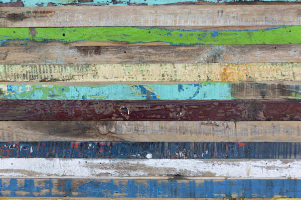 Old painted weathered wood to use as background